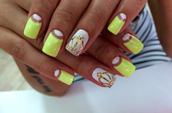 фото дизайна ногтей яркого цвета