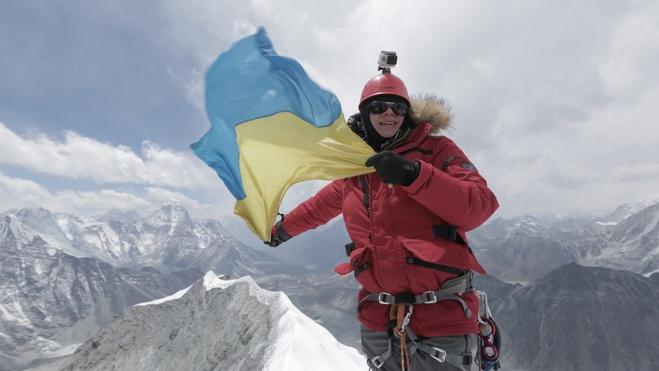 Дмитро Комаров на вершині Айленд-Пік