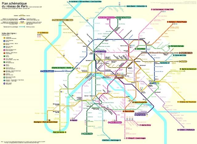 Найзаплутаніші метро світу: Париж, Франція