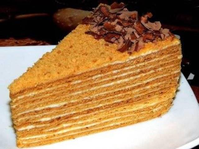Медовый торт простой рецепт фото