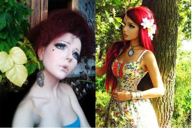 Живые девушки-куклы
