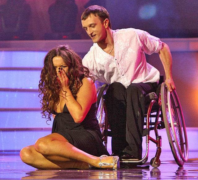 Наталья Могилевская упела с инвалидной коляски