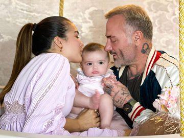Шэрон Фонсека и Джанлука Вакки с дочерью