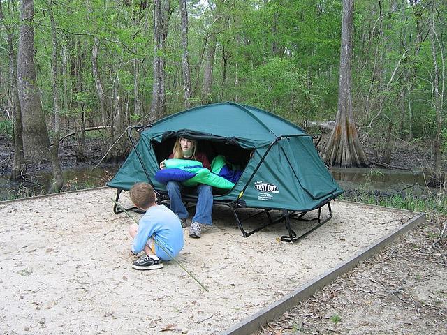 Раскладушка в палатку своими руками из