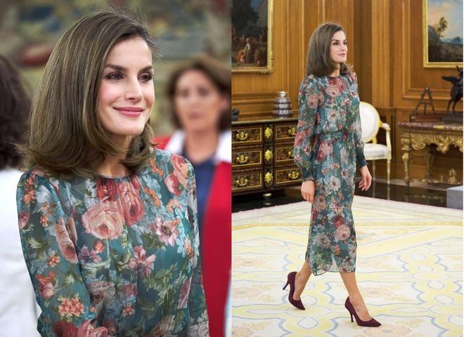 Королева Летисия в платье Zara