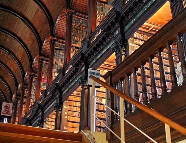 Найкрасивіші бібліотеки: Трініті-коледж, Дублін
