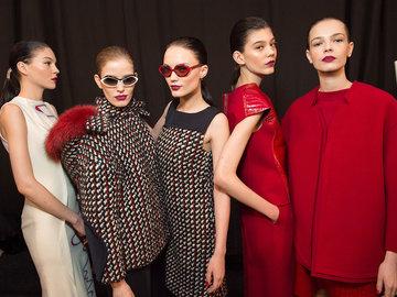 Бьюти-образ моделей с показа Carolina Herrera
