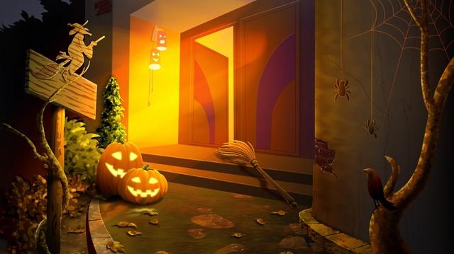 Милые тыковки с Хэллоуином