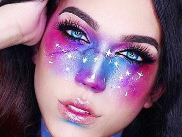 #galaxymakeup