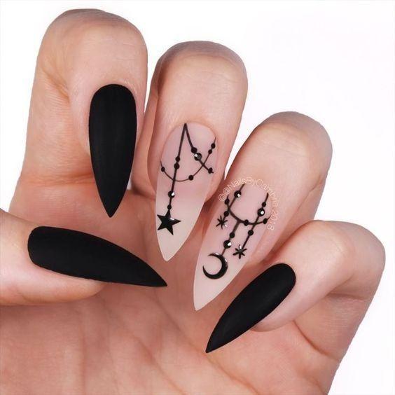 Осенний маникюр на длинные ногти: ТОП-15 вариантов дизайна