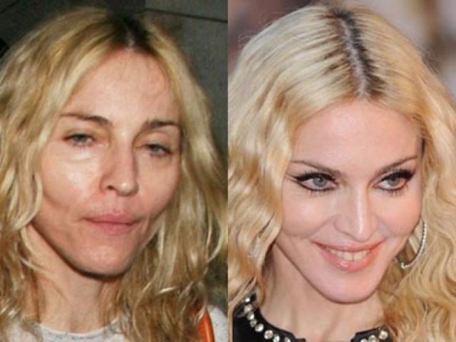 Звезды с макияжем и без