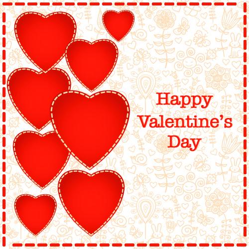 Красивая открытка с Днем Св. Валентина 2015