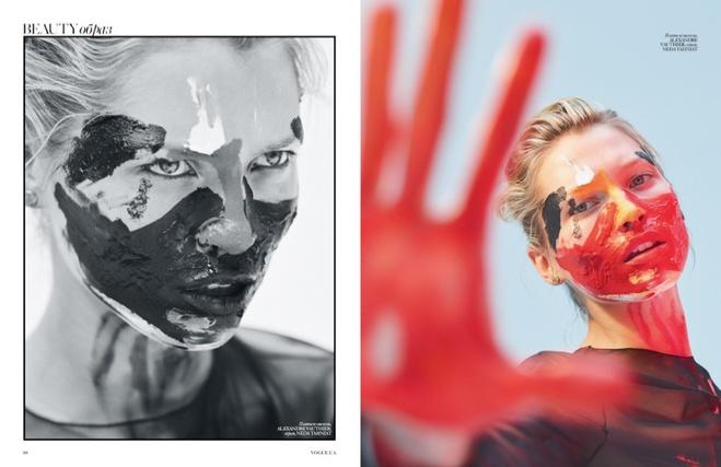 Чеська модель Хана Жірікова в арт-зйомці українського Vogue