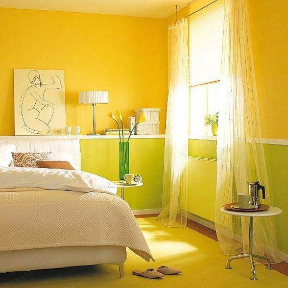 Жовтий в інтер'єрі