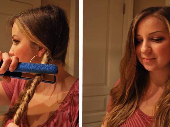 Как завить волосы щипцами для выпрямления