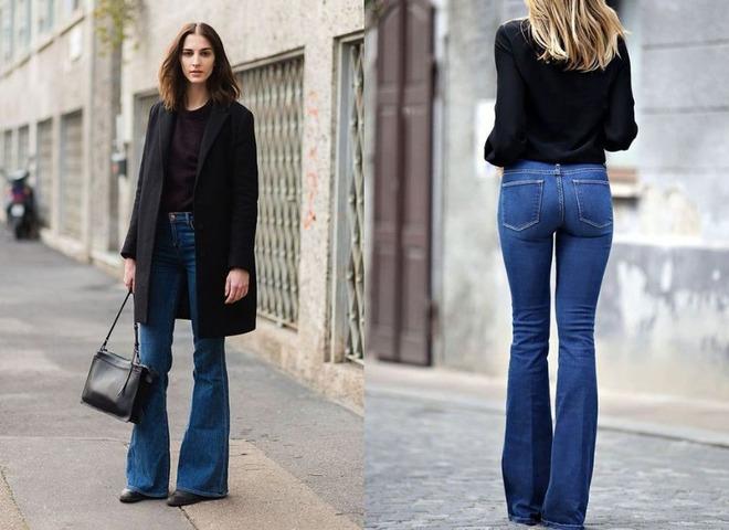 Як носити джинси кльош