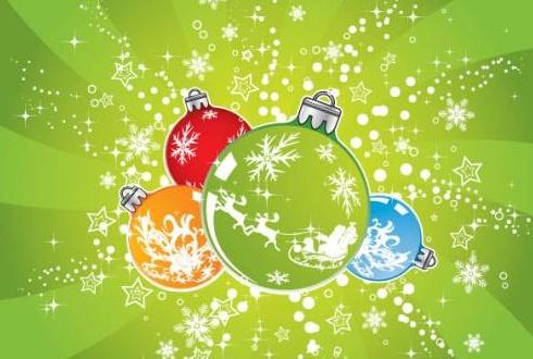 Открытки с игрушками на Новый год 2014