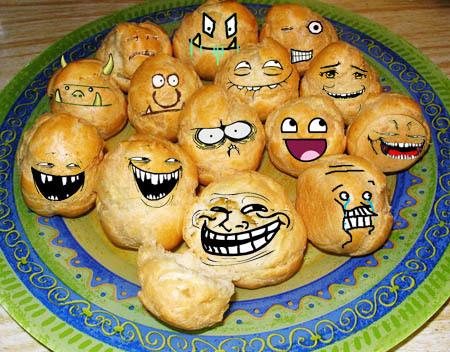 Живые булочки