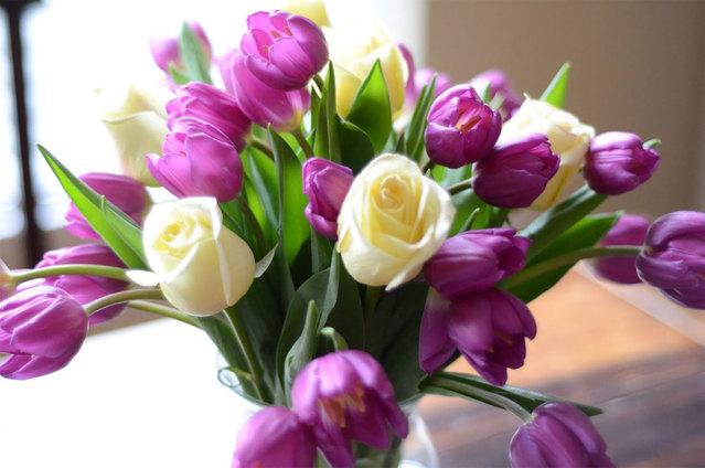 Букет тюльпаны фото