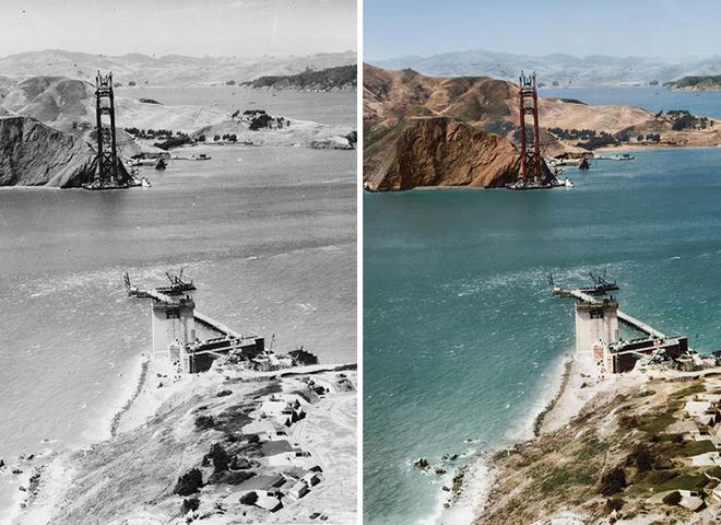 10 кольорових фотографій найвідоміших визначних пам'яток під час реконструкції або зведення