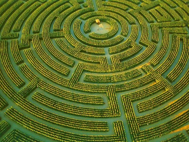 Самые запутанные лабиринты: Reignac-Sur-Indre, Турень, Франция