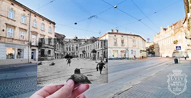 Старовинний Львів: Початок вул. Зеленої. 1944 рік