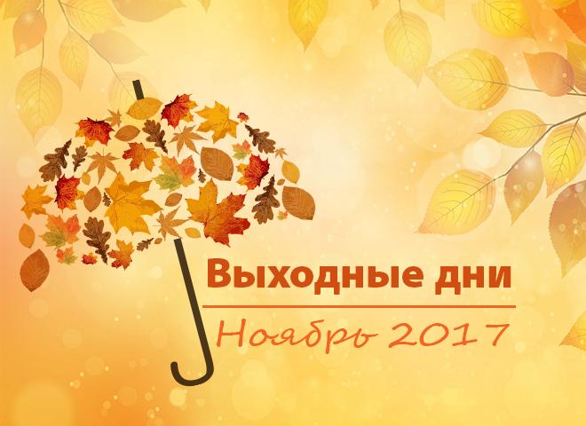 Выходные дни в ноябре 2017
