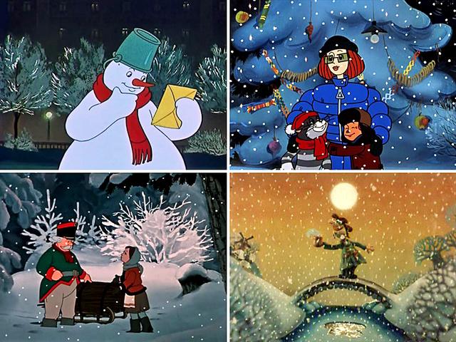 Российские мультфильмы о новом годе