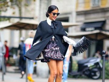Как носить платье осенью: street-style примеры