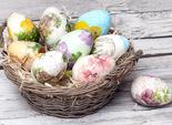 Декупаж великодніх дерев'яних яєць