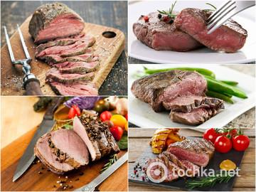 Рай для мясоеда: стейки с разной степенью прожарки