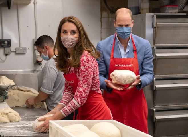 Кейт Миддлтон и принц Уильям посетили пекарню