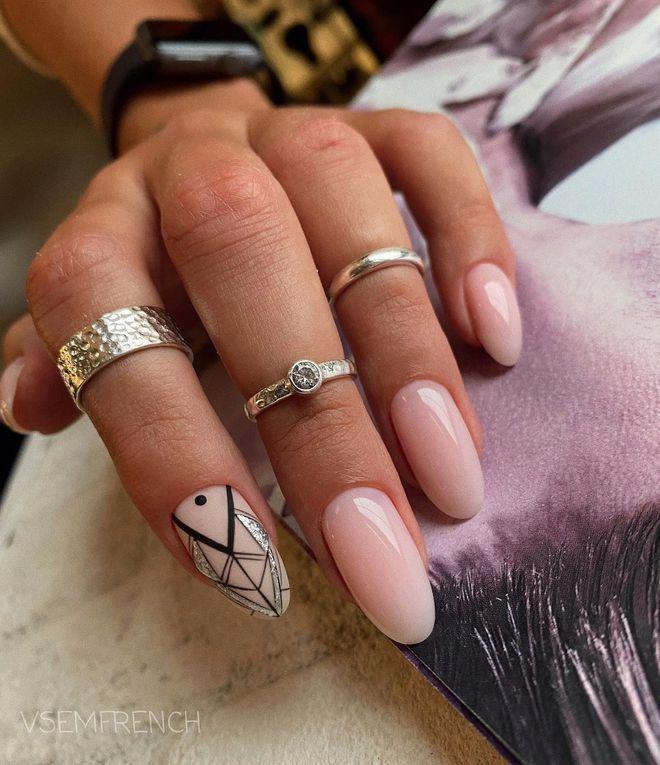 Модный маникюр 2021 для длинных ногтей