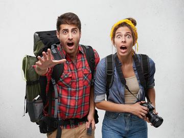 Здивовані туристи