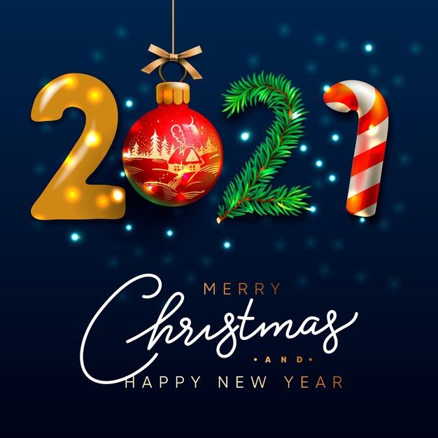 Красивые открытки на Новый год и Рождество 2021