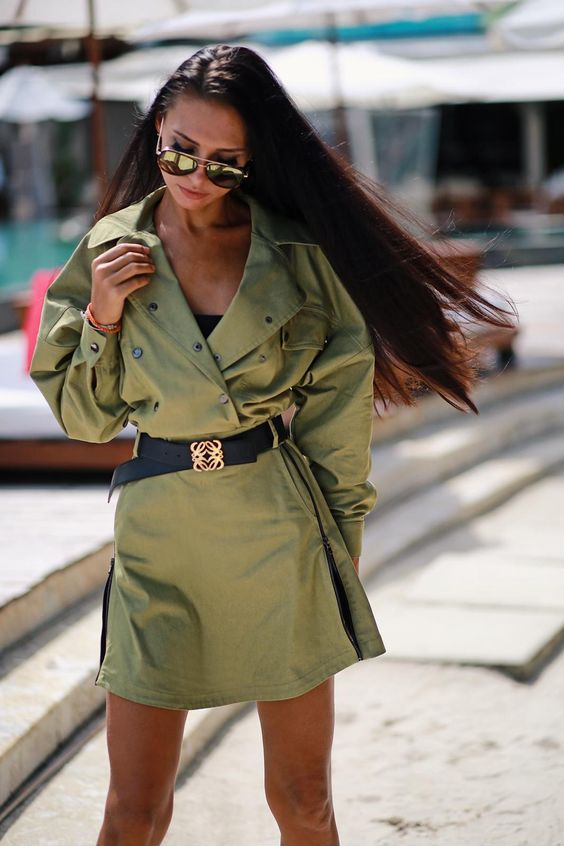 Модные образы с платьем-рубашкой