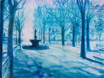 """Валерія Трубіна """"La Grande Revolution"""", 1993 90х120. Із колекції Бориса і Тетяни Гриньових"""