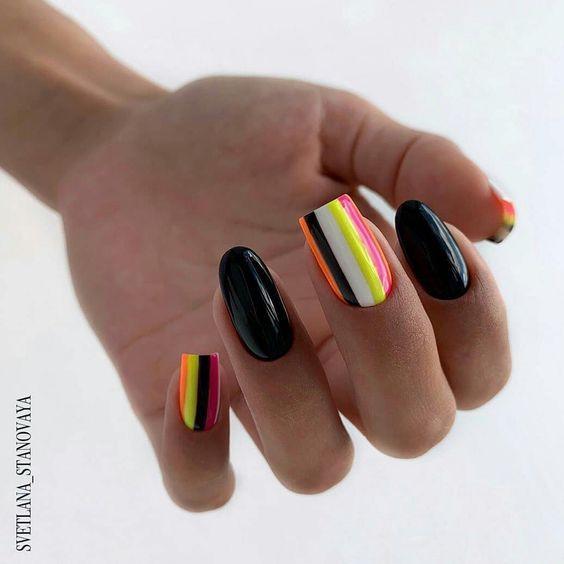 Разная длина ногтей — новый тренд в маникюре