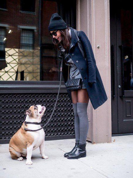 С чем носить юбку зимой: 10 модных советов на каждый день