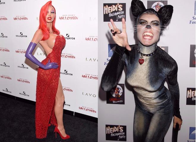 Хайди Клум костюмы на Хэллоуин