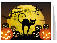Пугающие открытки с Хэллоуином!