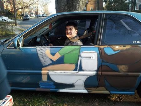 Ржачный арт на машине