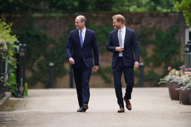 Принц Вільям і принц Гаррі йдуть на відкриття пам'ятника