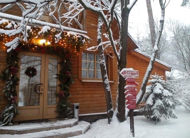 Украинское село. Этнокомплекс зимой