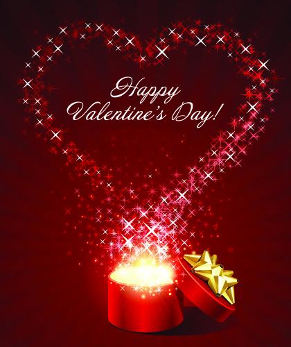 Романтическая открытка на день Святого Валентина 2015