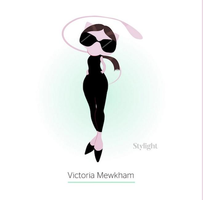 Вікторія Бекхем в образі покемона