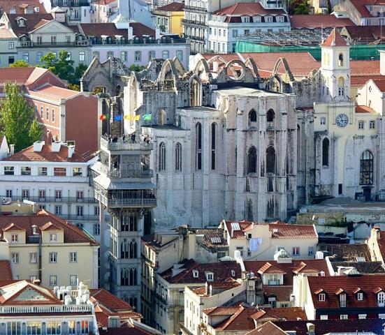 Достопримечательности Лиссабона: подъемник Санта Жушта