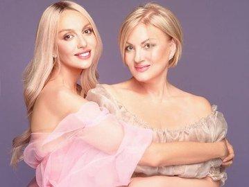 Оля Полякова с мамой Светланой