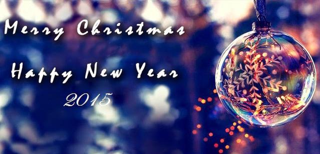 Красивая открытка к Рождеству и Новому году 2015