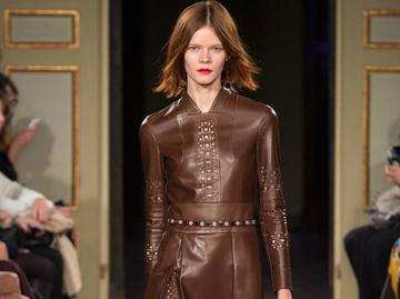 Модні тенденції зими 2016: шкіряні сукні